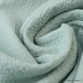 Tissu coton gaufré Coloris Menthe - Oeko tex