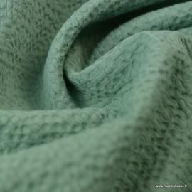 Tissu coton gaufré Coloris Céladon - Oeko tex