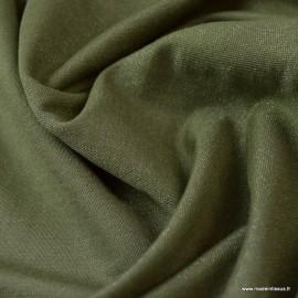 Tissu jersey viscose Sparkling coloris Kaki
