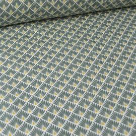 Tissu coton Enduit  imprimé écailles - Kaki - Oeko tex