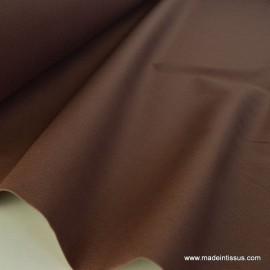 Tissu demi natté coton grande largeur marron