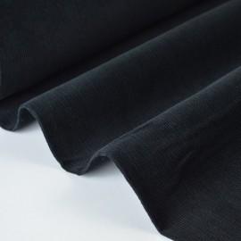 Tissu velours côtelé milleraies coton noir