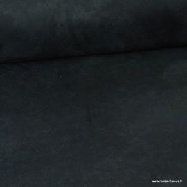 Tissu suédine ameublement habillement Noir