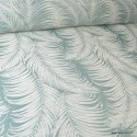 Tissu ameublement jacquard Feuilles de palme vert