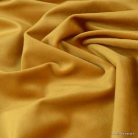 Tissu velours d'ameublement coloris Moutarde