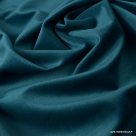 Tissu velours d'ameublement coloris Pétrole