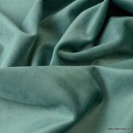 Tissu velours d'ameublement coloris Canard
