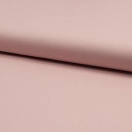 Tissu Popeline en coton Bio & oeko tex uni Rose poudré