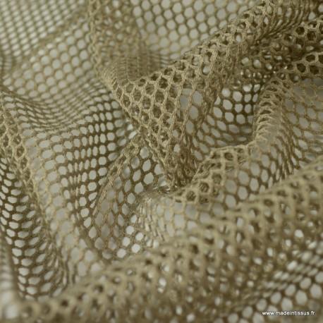 Tissu Filet Mesh Capuccino - au mètre