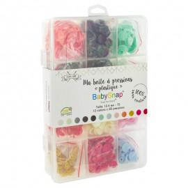 Coffret pressions BabySnap® plastique - 12 coloris