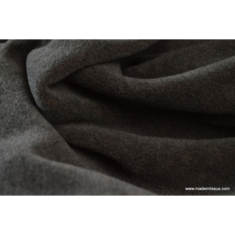 tissu polaire chin haut de gamme coloris flanelle par 50cm made in tissus. Black Bedroom Furniture Sets. Home Design Ideas