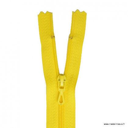 Fermeture éclair en nylon. col 617 jaune canari réf. z51