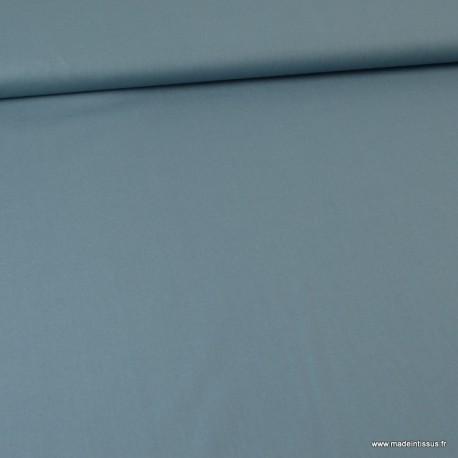 Tissu Popeline en coton Bio & oeko tex uni Bleu