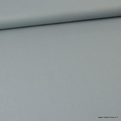 Tissu Popeline en coton Bio & oeko tex uni Gris