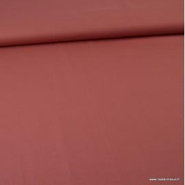 Tissu Popeline en coton Bio & oeko tex uni Terracotta