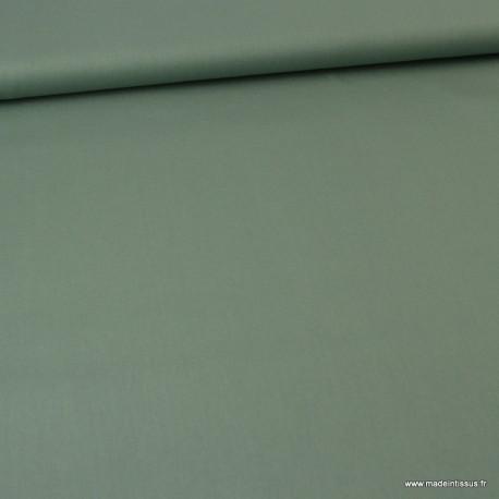 Tissu Popeline en coton Bio & oeko tex uni vert Céladon