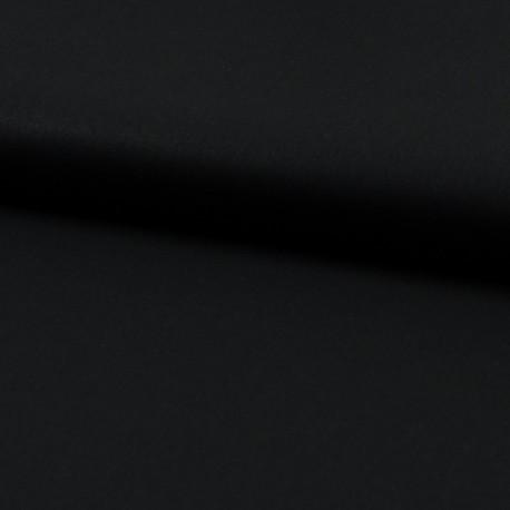 Tissu Popeline en coton Bio & oeko tex uni Noir
