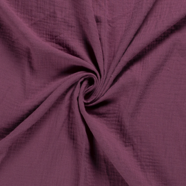 Tissu Double gaze coton Rose foncé - oeko tex
