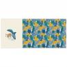 Pnneau de jersey Oeko tex imprimé paresseux sur l'avant et feuillages - Katia Fabrics