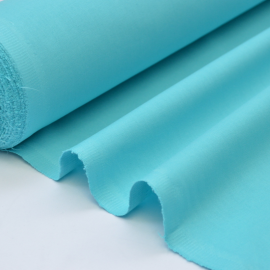 Tissu cretonne coton turquoise - Oeko tex