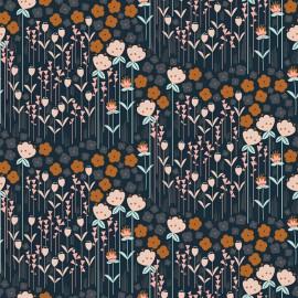 Tissu coton motifs fleurs Emilia rouille, rose et menthe - Cotton and Steel