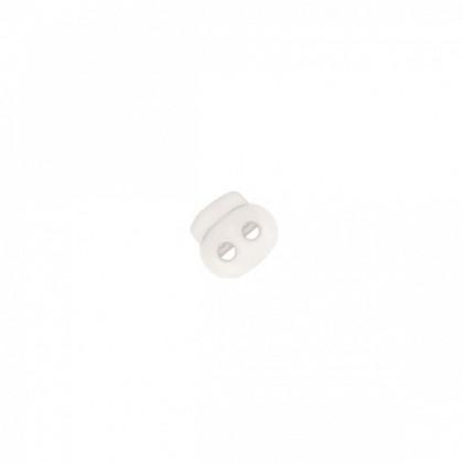 Bloqueur double oval en nylon - coloris Blanc
