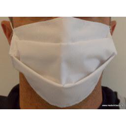Masque 2 couches polycoton AFNOR, catégorie 1, lavable à usage non sanitaire