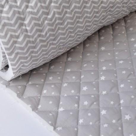 Matelassé coton double face étoiles et zigzag x50cm