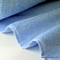 Tissu Eponge coton ciel lisiere cousue fermée .x1m