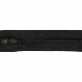 Fermeture éclair au mètre 25mm en nylon Coloris Noir
