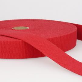 Sangle 30mm en coton pour sac coloris Rouge