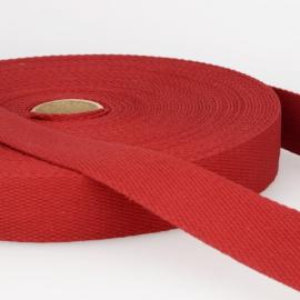 Sangle 30mm en coton pour sac coloris Bordeaux