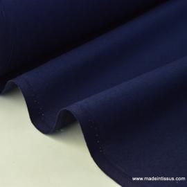 Tissu coton Enduit uni Marine -  Oeko tex