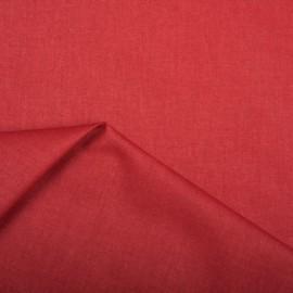 Tissu coton Enduit uni Grenat -  Oeko tex