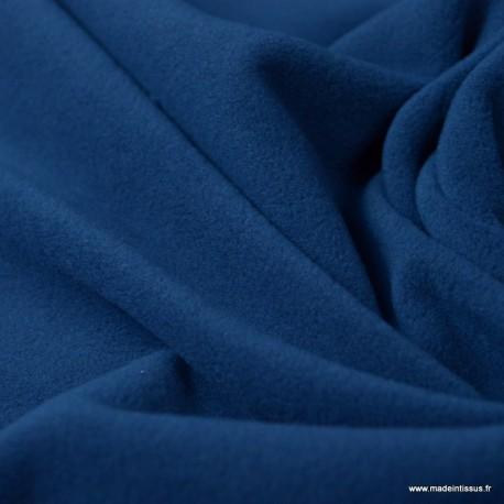 Tissu Micro polaire Bleu Toronto- oeko tex