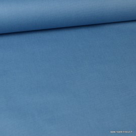 Tissu coton Enduit uni bleu Denim -  Oeko tex