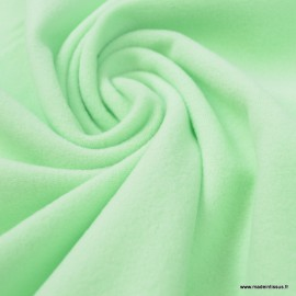 Tissu Micro polaire vert Menthe - oeko tex