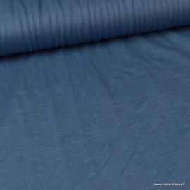 Tissu jersey viscose Sparkling coloris bleu jean