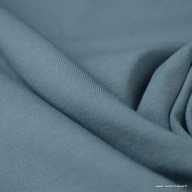 Tissu jersey Bio coloris Bleu - Oeko tex et Organic