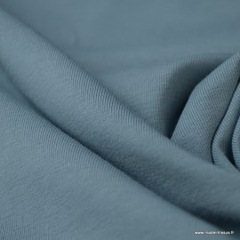 Tissu jersey Bio coloris Bleu - Label Gots & Oeko tex