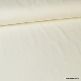 Tissu jersey Bio coloris Blanc - Label Gots & Oeko tex