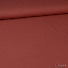 Tissu jersey Bio coloris Terracotta - Oeko tex et Organic