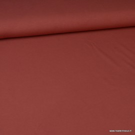 Tissu jersey Bio coloris Terra cotta - Label Gots & Oeko tex
