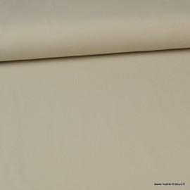 Tissu jersey Bio coloris Sable - Label Gots & Oeko tex