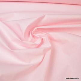 Tissu coton Enduit uni Rose Blush -  Oeko tex