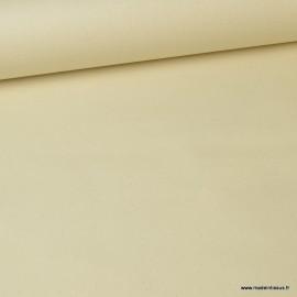 Tissu coton Enduit uni Ecru -  Oeko tex