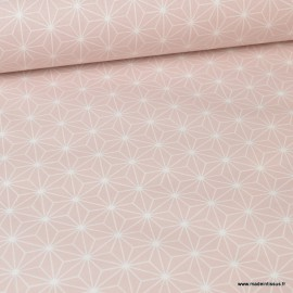 Tissu coton Enduit Casual Rose Blush -  Oeko tex