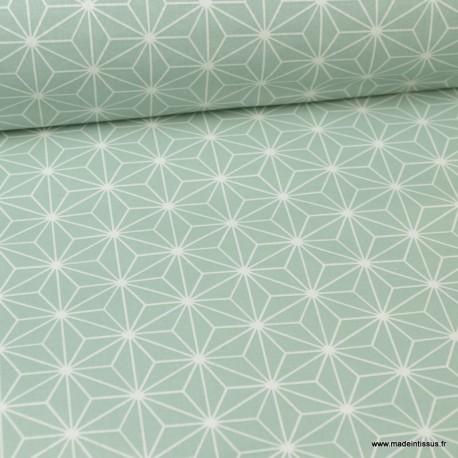 Tissu coton Enduit Casual Céladon -  Oeko tex