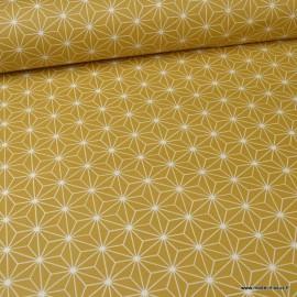Tissu coton Enduit Casual Ocre -  Oeko tex