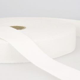 Sangle 30mm en coton pour sac coloris Blanc